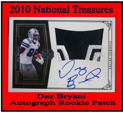 2010 National Treasures Dez Bryant Rookie Autograph Patch