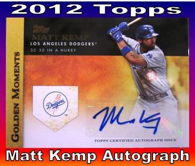 Matt Kemp Autographed Card Topps Matt Kemp Autograph