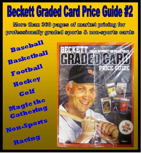 Beckett Graded Card Price Guide 2nd Editin 2012 Mvp Sports Cards