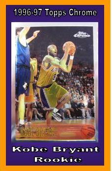 Nice 1996 97 Topps Chrome Kobe Bryant Rookie Mvp Sports Cards