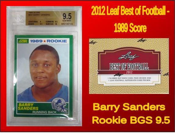 2012 Leaf Best Of Football 1989 Score Barry Sanders Rookie