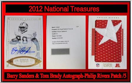 10-16-14 XYZ- 12 Nat'l Treasures Brady - Sanders