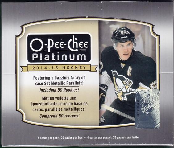 14 15 OPC Platinum Hk 2014 15 O Pee Chee Platinum Hockey Hobby Box