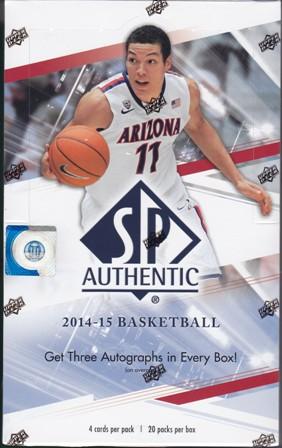 14 15 SP Bk 2014 15 SP Authentic Basketball Hobby Box