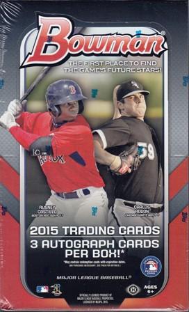 15 B J Bb 2015 Bowman Jumbo Baseball Hobby Box