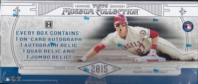 15 T Museum Bb 2015 Topps Museum Collection Baseball Hobby Box