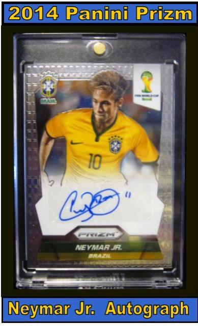 4 14 15 Greg Perry Neymar 2014 Panini Prizm Neymar Jr. Autograph