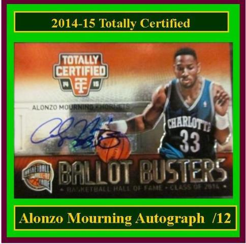 4 17 15 Barbara Mourning 2014 15 Totally Certified Alonzo Mourning Autograph /12