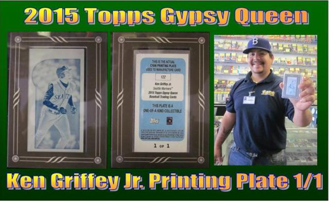 4 17 15 Jorge Griffey 2015 Topps Gypsy Queen Ken Griffey Jr. Printing Plate 1/1