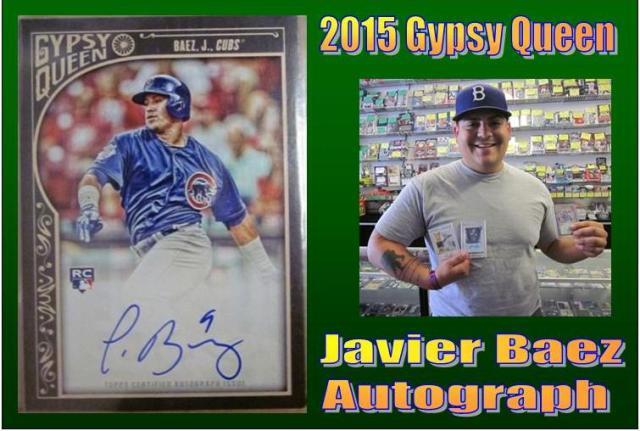 4 29 15 Jorge Baez 2015 Gypsy Queen Javier Baez Autograph