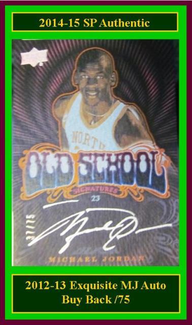 4 4 14 Barbara Jordan 2014 15 SP Authentic  2012 13 Exquisite Buy Back Michael Jordan Autograph 37/75