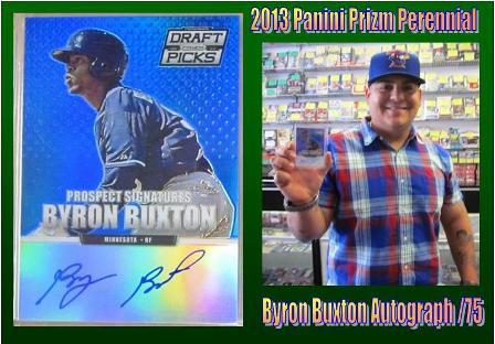 4 30 15 Jorge Buxton 2013 Panini Prizm Perennial Byron Buxton Autograph /75