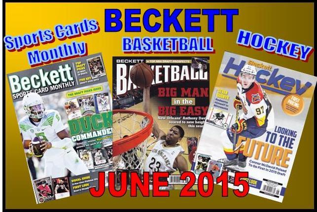 5 12 15 SCM BK HK New Sports Cards Monthly, Basketball, Hockey Becketts – JUNE 2015