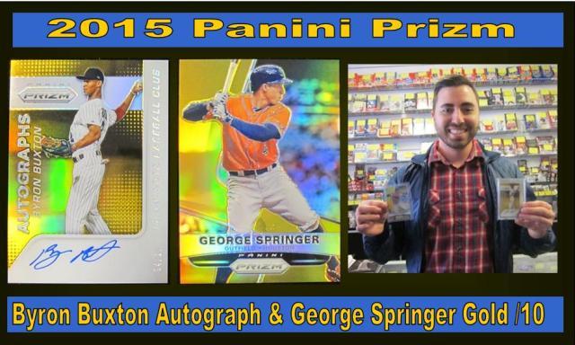 5 15 15 Ben Buxton 2015 Panini Prizm Buxton Auto & Springer Gold /10