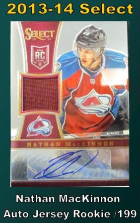 5 15 15 Bobby MacKinnon 2013 14 Panini Select Nathan MacKinnon Autograph Jersey Rookie /199