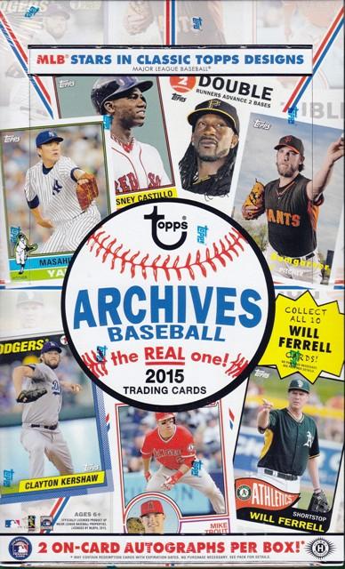 15 T Archives Bb 2015 Topps Archives Baseball Hobby Box