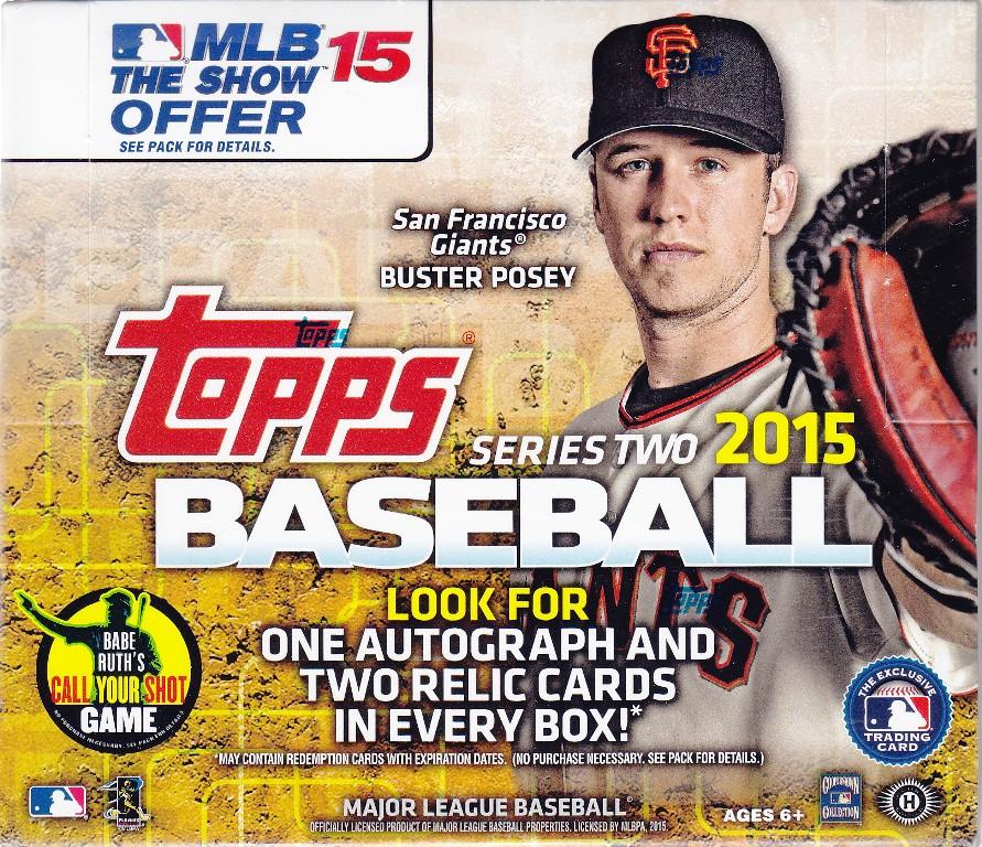 15 T J Bb 2015 Topps 2 JUMBO Baseball Hobby Box