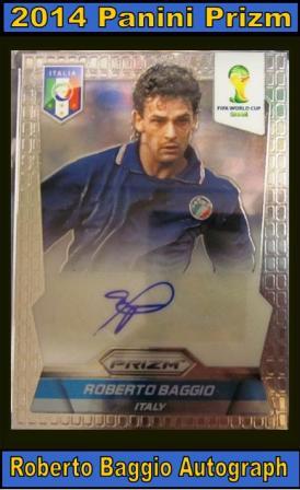 6 18 15 Greg Perry Baggio 2014 Panini Prizm Roberto Baggio Autograph