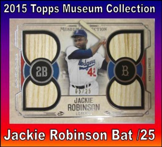 6 3 15 Bob Washington Jackie Robinson 2015 Topps Museum Jackie Robinson Bat /25