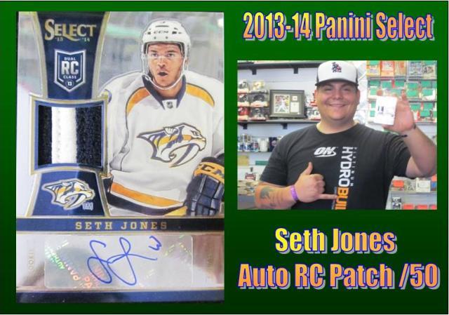 6 9 15 Jorge Jones 2013 14 Panini Select Seth Jones Auto Patch RC /50