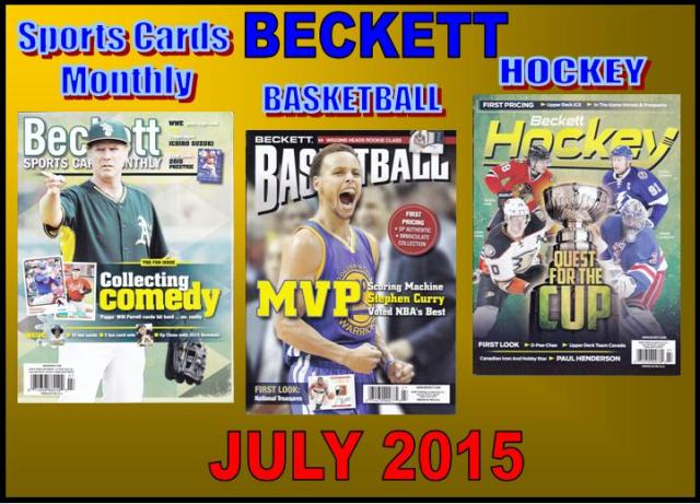 6 9 15 SCM BK HK New Sports Cards Monthly, Basketball, Hockey Becketts –JULY 2015