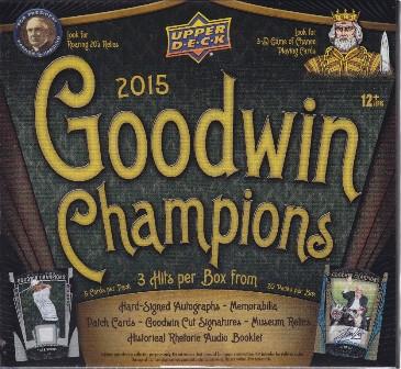 Jun30 04 2015 Upper Deck Goodwin Champions Hobby Box