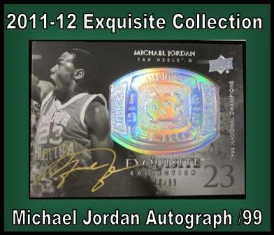 7 22 15 John B Jordan 2011 12 Exquisite Michael Jordan Autograph 18/99