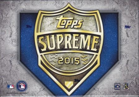 15 T Supreme Bb 2015 Topps Supreme Baseball Hobby Box