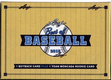 15 L Best of Bb 2015 Leaf Best of Baseball Hobby Box