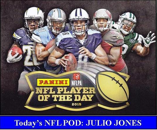 2015 NFL POD PANINI NFL PLAYER OF THE DAY 2015   JULIO JONES
