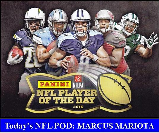 2015 NFL POD2 PANINI NFL PLAYER OF THE DAY 2015   MARCUS MARIOTA