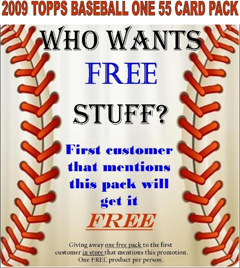 FREE 09 T I 55 CARD PACK Who wants FREE stuff?