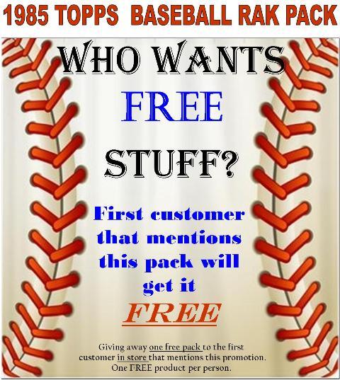 FREE 85 T Rak Pack Who wants FREE stuff?