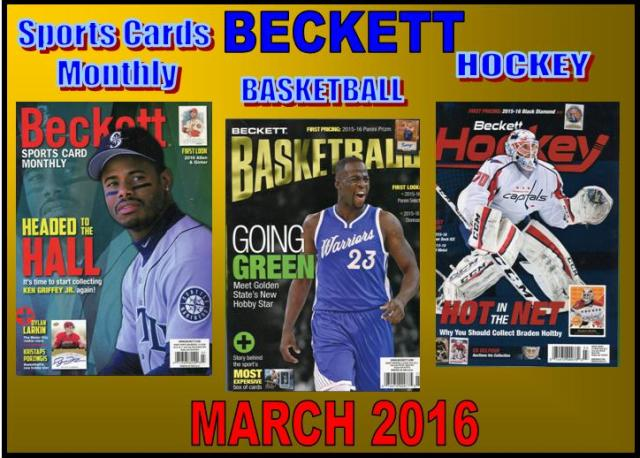 2 9 16 SCM BK HK New Sports Cards Monthly, Basketball, & Hockey Becketts – March 2016
