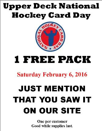 Natl Hk Card Day Upper Deck National Hockey Card Day