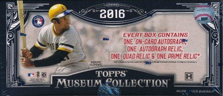 16 Museum Bb 2016 Topps Museum Collection Baseball Hobby Box