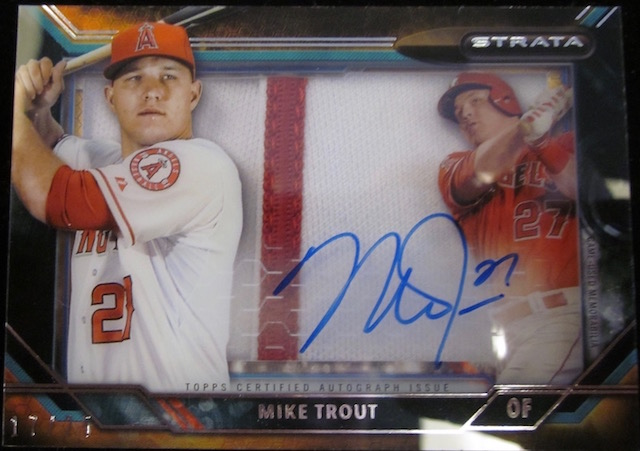 2015 Topps Strata Mike Trout Autograph