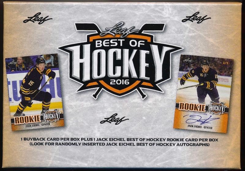Best of Hk 2016 Leaf Best of Hockey Hobby Box