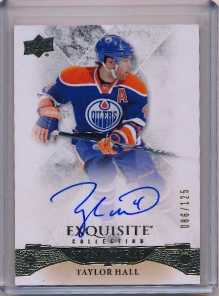 Bobby Sweet Exquisite Taylor Hall Auto pulled by Bobby out of the new Upper Deck Ice!