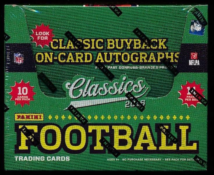 D Classics fb 2016 Panini Classics Football Hobby Box
