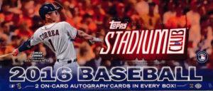 sc 300x128 2016 Topps Stadium Club Baseball Hobby Box