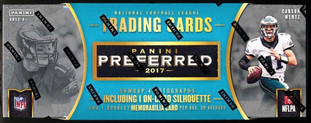 2017 Panini Preferred Football Hobby Box Mvp Sports Cards