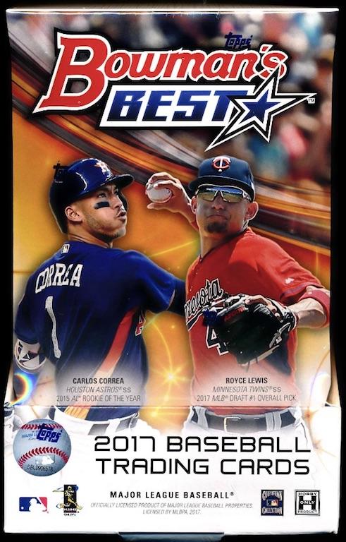 2017 Bowmans Best Baseball Hobby Box 2017 Release Date Wed