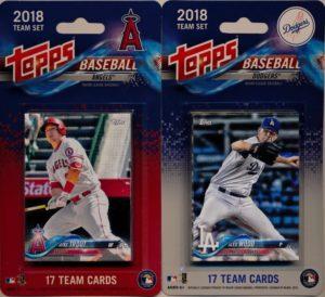 2018 Topps Angels Dodgers Team Sets Have Arrived Mvp Sports Cards