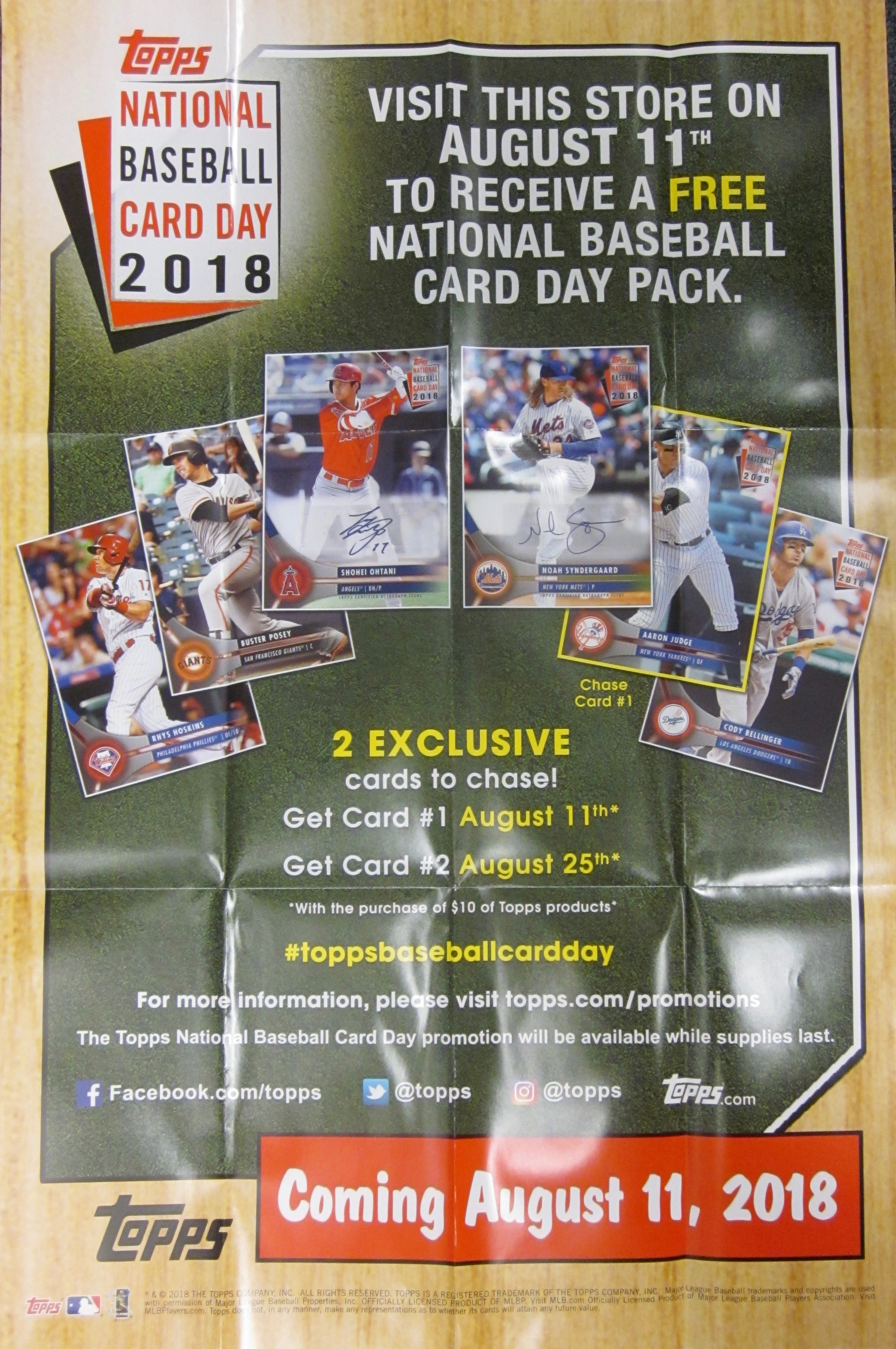 2018 Topps National Baseball Card Pack Day Is Coming In August 11th