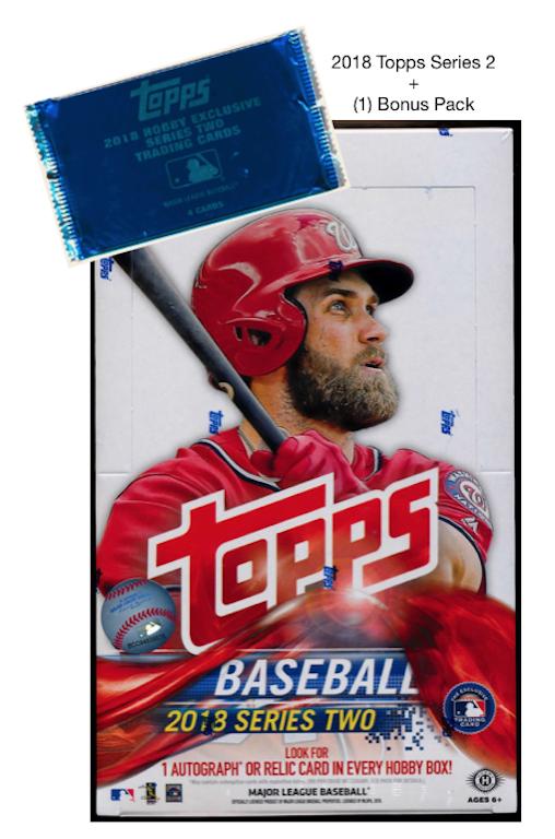 2018 Topps Series 2 Baseball Hobby Box 1 Bonus Silver Pack